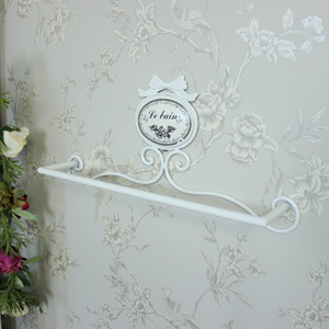 'Le Bain' Ivory Metal Towel Rail