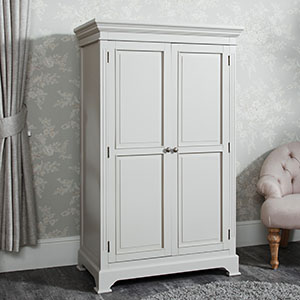 Grey Linen Closet/Low Wardrobe - Daventry Taupe-Grey Range