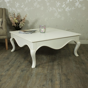 Large Square Cream Coffee Table