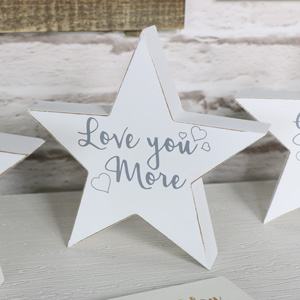'Love You More' Freestanding Star Plaque