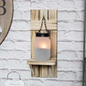 Wall Mounted Mason Jar Tealight Holder Sconce