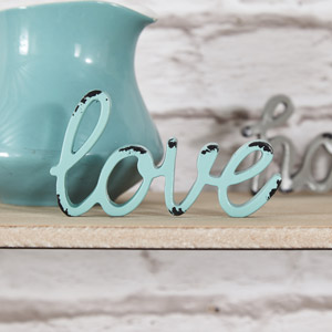Metal Freestanding 'Love' Letters Paperweight