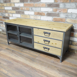 Metal Industrial Style TV Cabinet