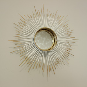 Metal Sunburst Wall Mirror