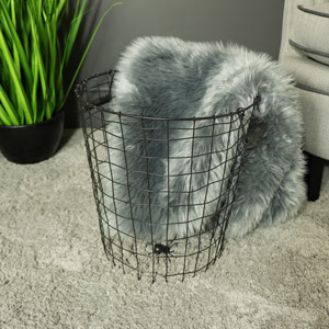 Metal Wire Storage bin/waste paper basket