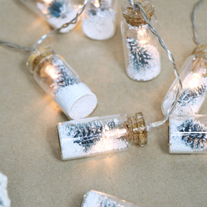 Mini Christmas Tree Bauble String Lights