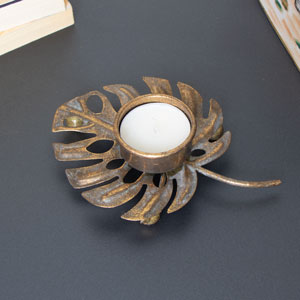 Monstera Leaf Tealight Holder