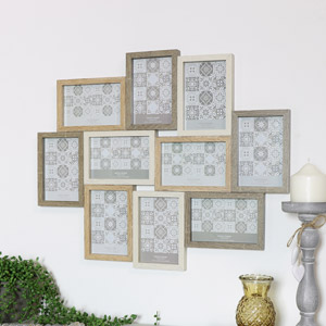 Multi Aperture Wall Mounted Photo Frame