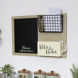 Multi Purpose Chalk Board with Storage