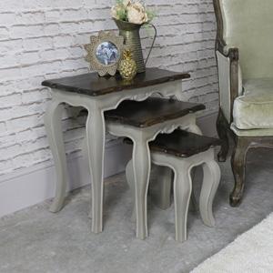 Nest of 3 Tables Vintage Grey - Leadbury Range