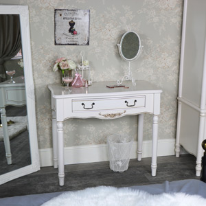 Ornate Antique Cream Console Table - Adelise Range