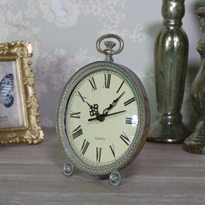 Ornate Antique Gold Mantel Clock