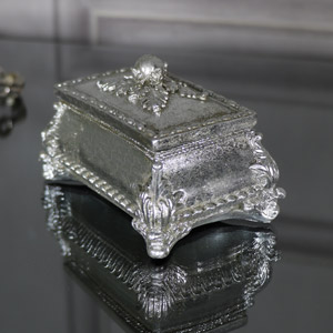 Ornate Antique Silver Trinket Box