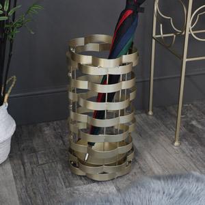 Ornate Gold Umbrella Stand / Holder