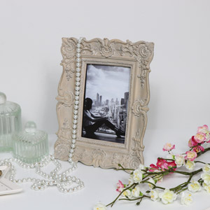 Ornate Grey Photograph Frame
