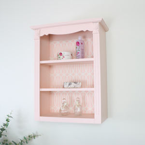 Ornate Pink Wall Shelf