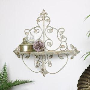 Ornate Vintage Cream Shelf