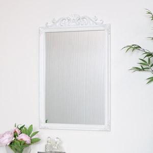 Ornate Vintage White Wall Mirror 52cm x 82cm