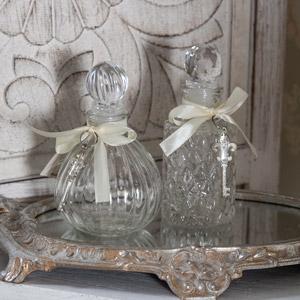 Pair of Decorative Glass Perfume Bottles