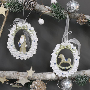 Pair of Traditional Christmas Tree Ornaments