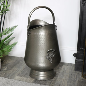 Pewter Coal Bucket