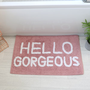 Pink Bath Mat - Hello Gorgeous