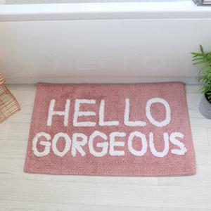 Pink Bath Mat - Hello Gorgeous