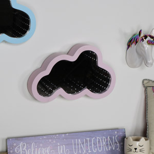 Pink Cloud Shape LED Light Infinity Mirror