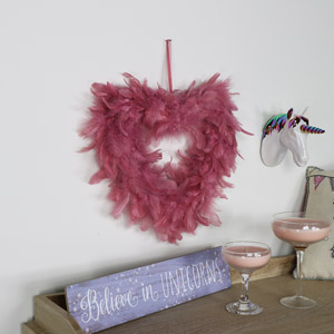 Pink Feather Wall Hanging Decoration