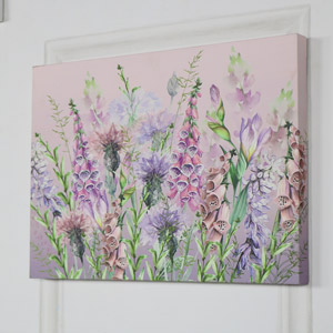 Pink Foxglove Wall Mounted Canvas Print