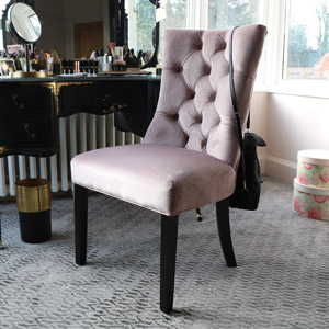 Pink Velvet Dining Chair