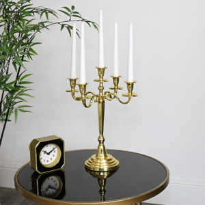 Polished Gold Candelabra