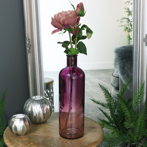 Purple Ombre Glass Apothecary Bottle Vase