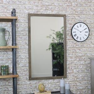 Rectangle Wooden Wall Mirror 60cm x 99cm