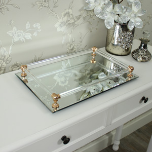 Rectangular Mirrored Display Tray