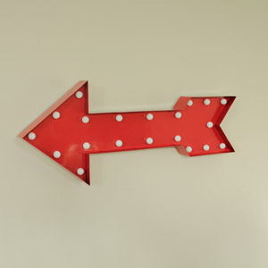Red Arrow with LED lights