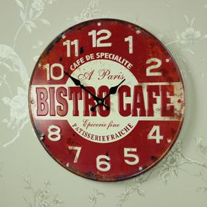 Retro Metal Bistro Cafe Wall Clock