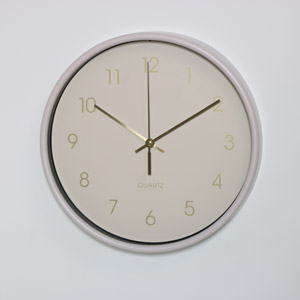 Round Pink Wall Clock