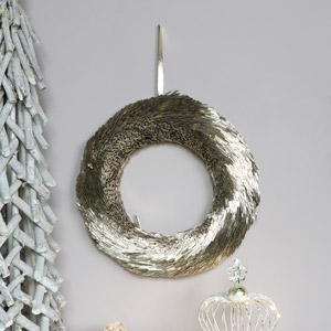 Round Gold Chrismtas Wreath