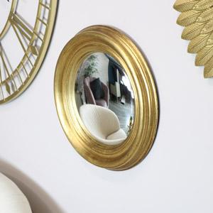 Round Gold Convex Mirror