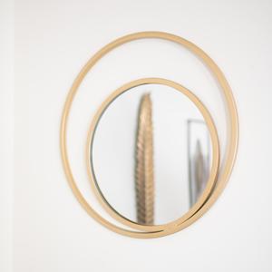 Round Gold Double Frame Mirror 48cm x 48cm