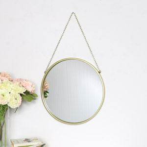Round Gold Framed Wall Mirror 45cm x 45cm