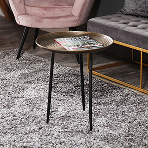 Round Gold Side/Occasional table