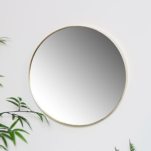 Round Gold Wall Mirror 41cm x 41cm