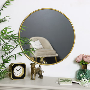 Round Gold Wall Mounted Mirror 50cm x 50cm
