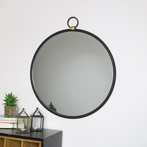 Round Metal Fob Wall Mirror