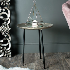 Large Round Silver Side Occasional Table