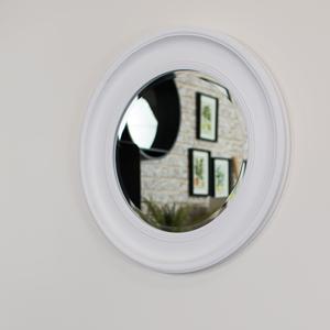 Round Vintage White Wall Mirror 60cm x 60cm