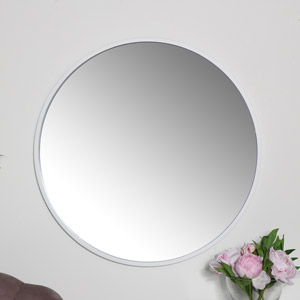 Round White Wall Mirror 80cm x 80cm