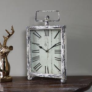 Rustic Antique Cream Vintage Mantel Clock